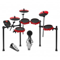 Alesis Nitro Mesh Kit Eight Piece Electronic Drumkit, Special  Edition Red.