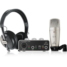 Behringer U-PHORIA STUDIO PRO Complete Recording Bundle with High Definition USB Audio Interface, Condenser Microphone and Studio Headphones