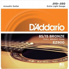 D'Addario EZ900 85/15 Bronze Extra Light Acoustic Guitar Strings