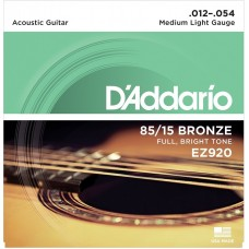 D'Addario EZ920 85/15 Bronze Medium Light Acoustic Guitar Strings