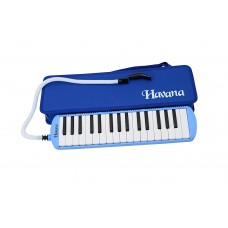 Havana MD-32 32-Key Melodica with Hard Case, Blue