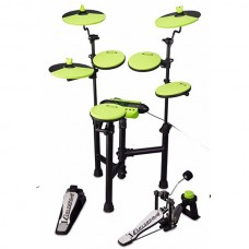 Carlsbro CSD130 - Compact Electronic Drum Kit - Green