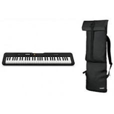 Casio CT-S200BK 61-Keys Portable Keyboard with Casio CBS100 Carry Bag