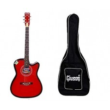 Givson G150SP-6-String Cutaway, Red Black With Bag, Shipping