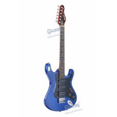 Givson guitar Blue Diamond (Fitted With 1 Humbucking Pick-up & 2 Single Coiled Pick-up