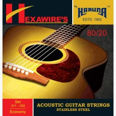 Karuna Acoustic Guitar Stainless Steel Strings ECONOMY . 011 - .052 (SET, pack of 6strings )