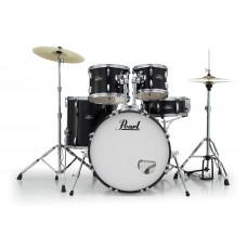 Pearl Roadshow 5Pc Drumset with Stands and Cymbals- JET BLACK